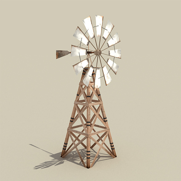 Wooden Windmill - 3DOcean Item for Sale
