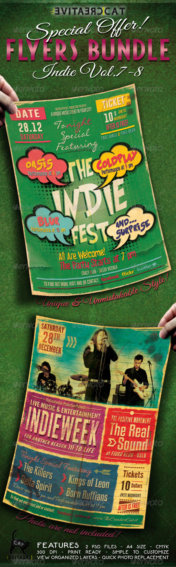 Indie Flyer/Poster Bundle Vol. 7-8 - Events Flyers