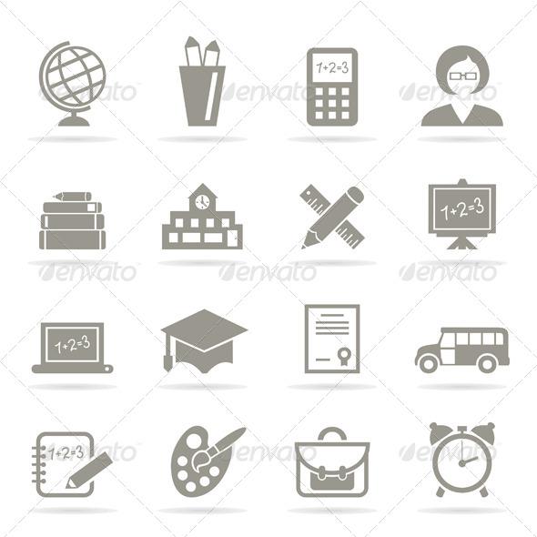 School Icons - Miscellaneous Vectors