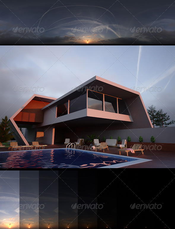 Realsky HDRI Sunset 1645 - 3DOcean Item for Sale