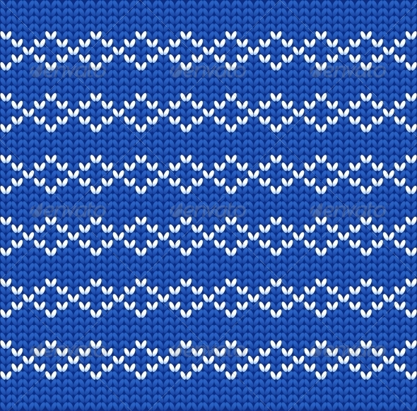 Knitted Wool Vector Background - Patterns Decorative