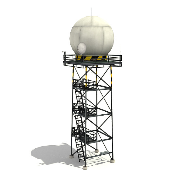 Weather Radar Tower - 3DOcean Item for Sale