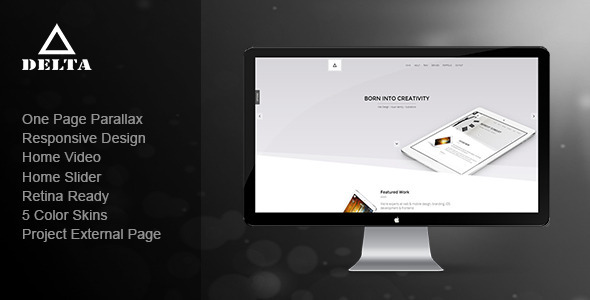 Delta – Responsive One Page Parallax Template