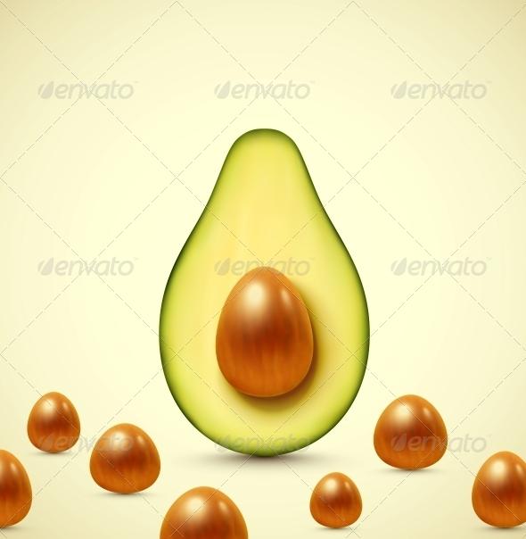 Half an Avocado - Food Objects