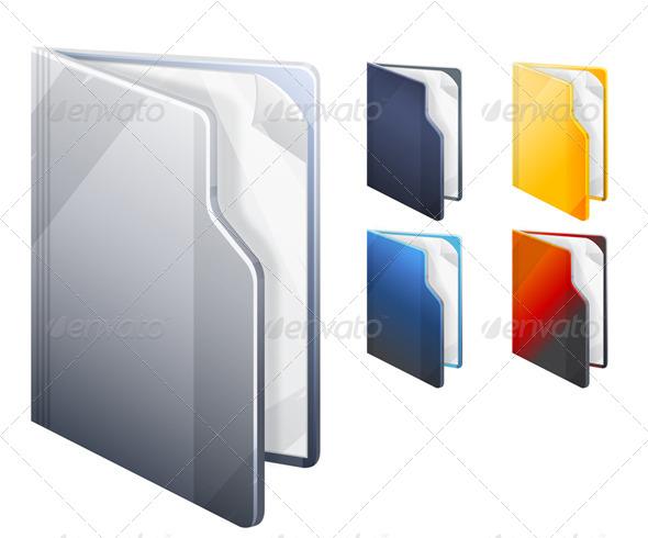 Folder Icon Set - Illustration - Computers Technology