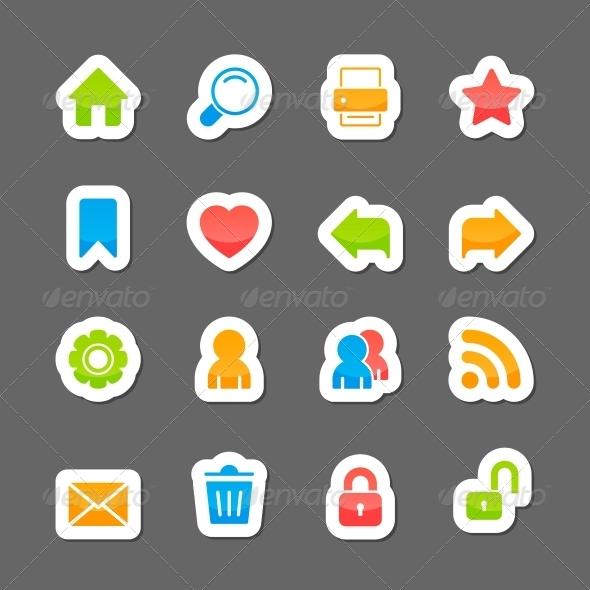 Website Layout Interface Elements - Web Elements Vectors