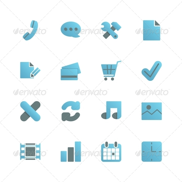Ecommerce Icons Set for Web Design - Web Elements Vectors