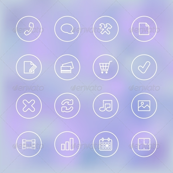 Icons Set for Mobile App UI - Web Elements Vectors