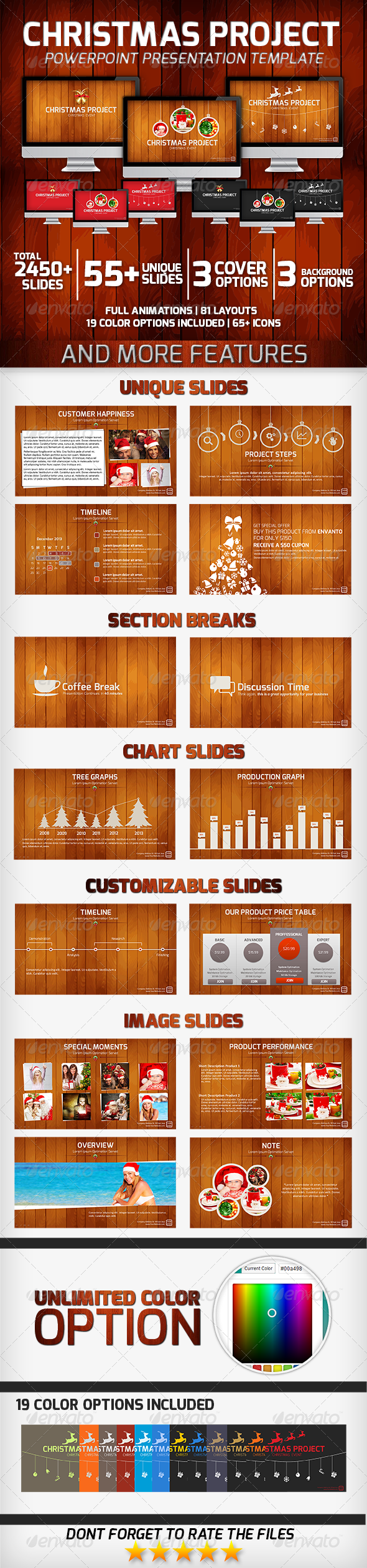 Christmas Project PowerPoint Presentation Template - Business PowerPoint Templates