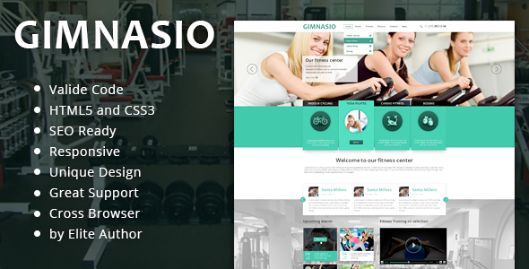 Gimnasio Responsive HTML Template - Health & Beauty Retail