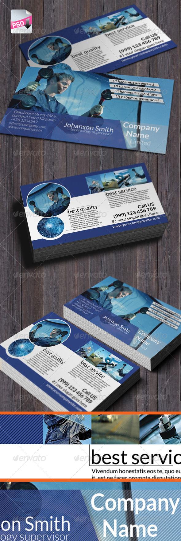 Autoglass Business card - Print Templates