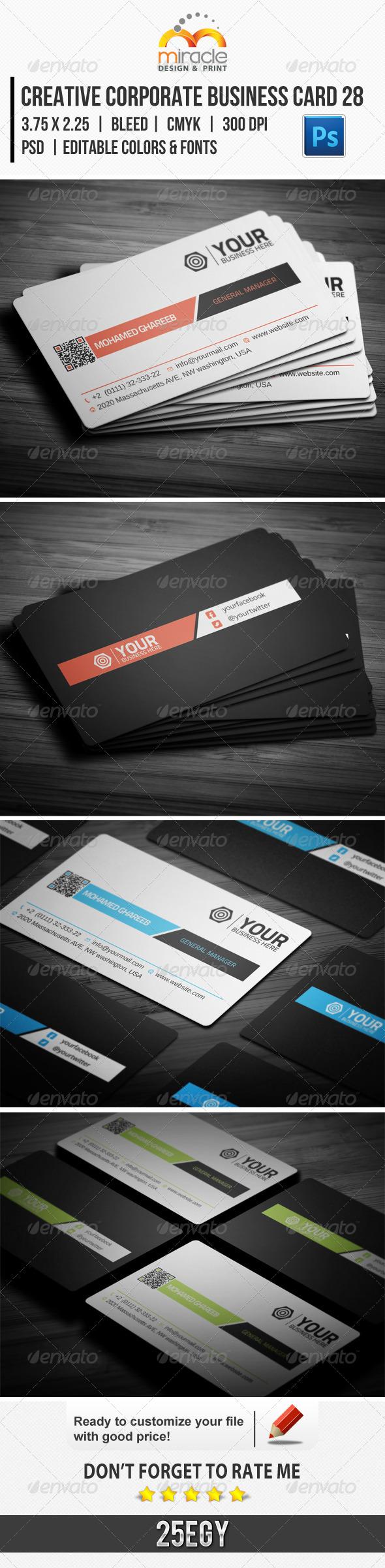 Creative Corporate Business Card 28 - Creative Business Cards