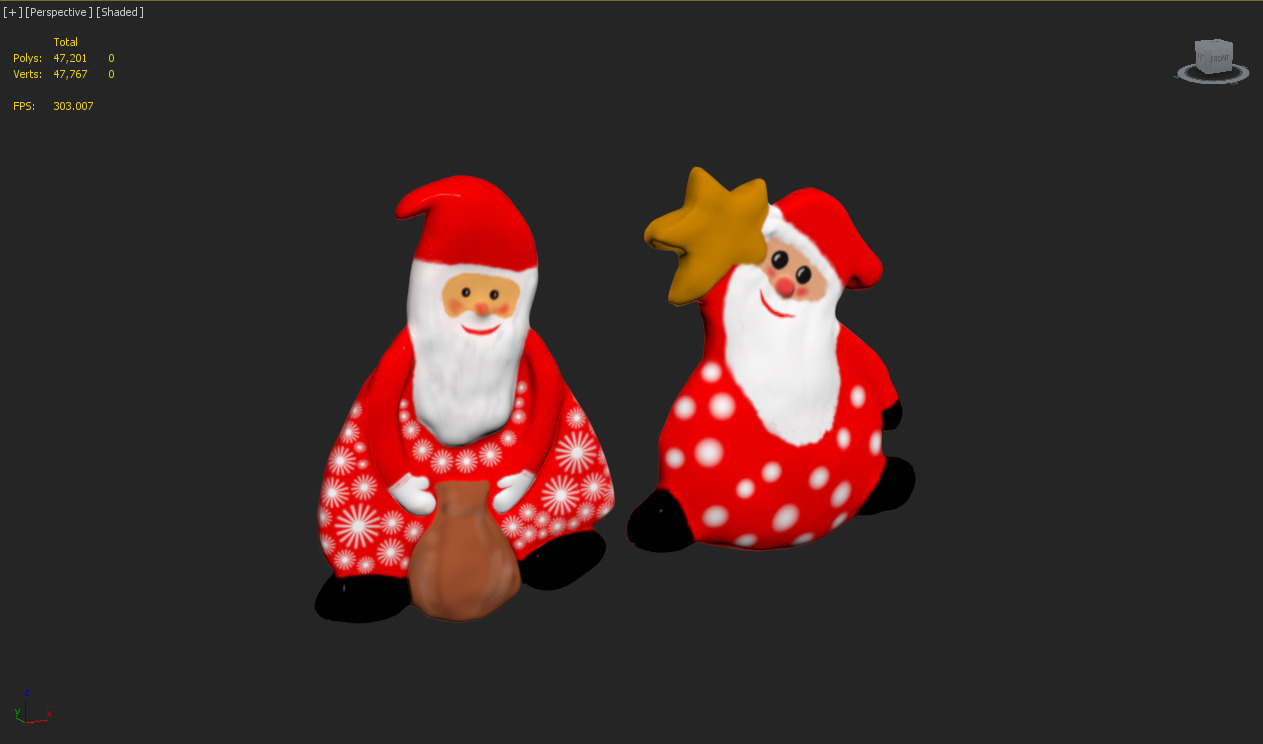 Santa claus magnet toy by luckyfox docean