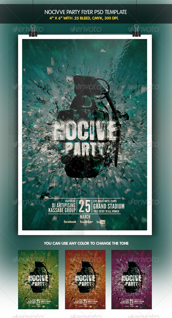 Nocive Party Night Flyer - Clubs & Parties Events