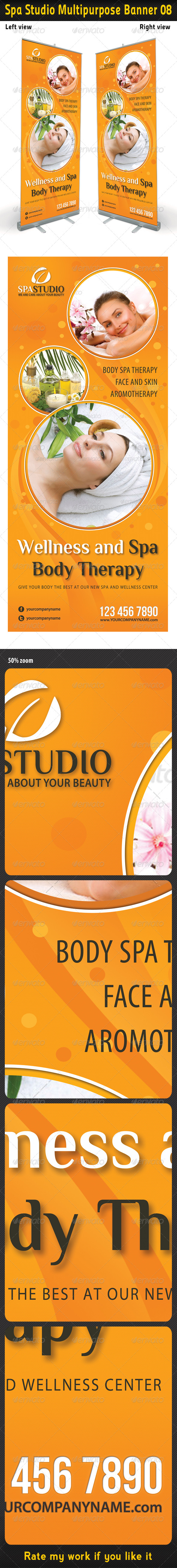 Spa Studio Multipurpose Banner 08 - Signage Print Templates