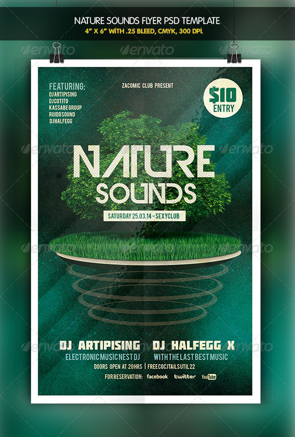 Nature Sounds | Party Flyer - Clubs & Parties Events