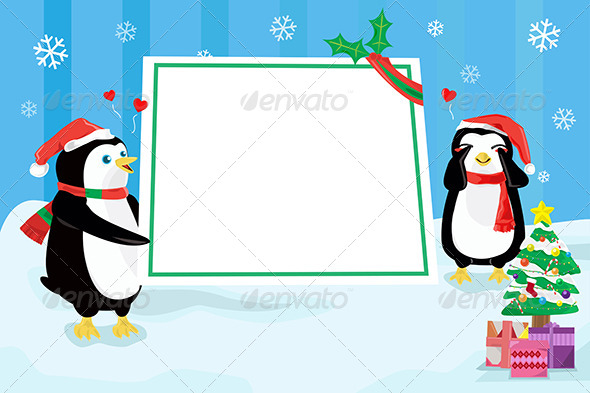 Christmas Penguin Design Background - Christmas Seasons/Holidays