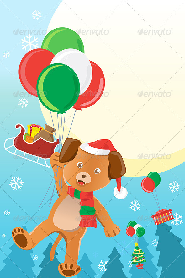 Christmas Dog Design Background - Christmas Seasons/Holidays