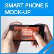Smart Phone 5 Screen Mock-up