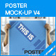 Poster Mock-Up V4 - GraphicRiver Item for Sale