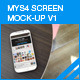MyS4 screen mock-ups v1 - GraphicRiver Item for Sale