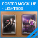 Lightbox Poster Mock-Ups - GraphicRiver Item for Sale