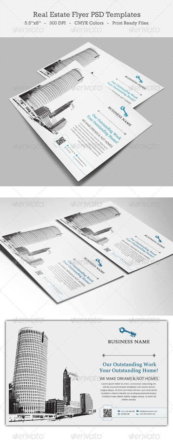 Real Estate Flyer PSD Templates - Commerce Flyers