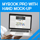 myBook Pro Screen Mock-up with Hand Pose - GraphicRiver Item for Sale