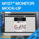 "My27"" Monitor Screen Mock-Up - GraphicRiver Item for Sale"