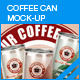 Coffee Can Mockup - GraphicRiver Item for Sale