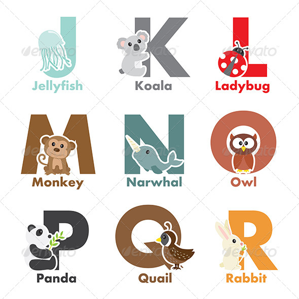 Alphabet Animals - Animals Characters