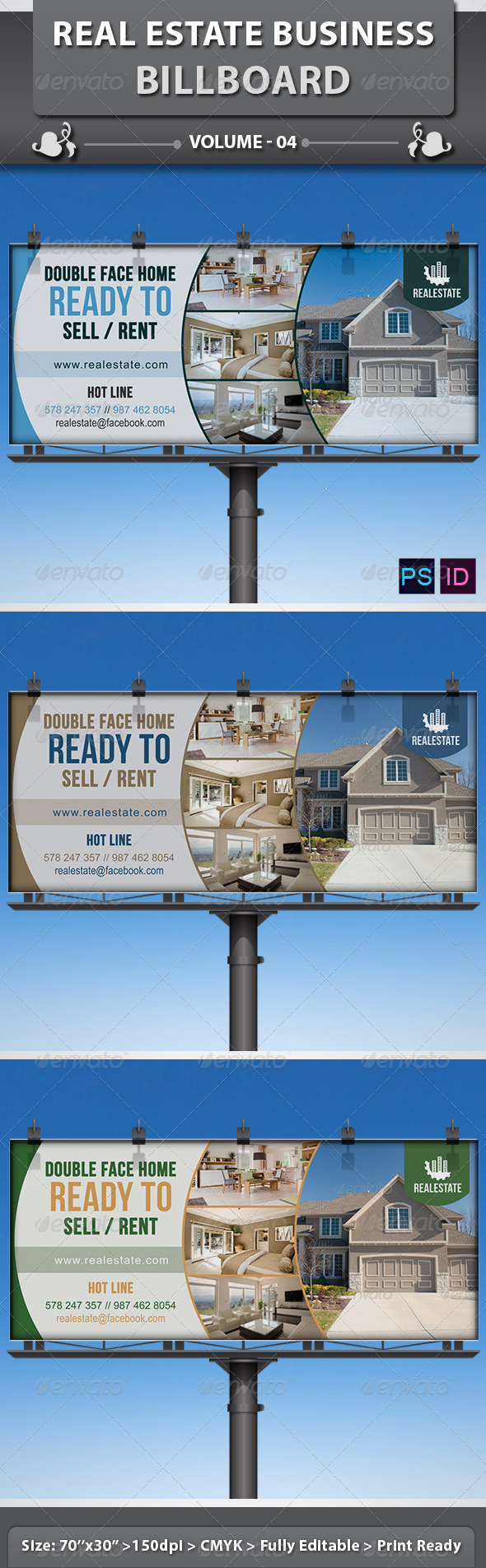 Real Estate Business Billboard | Volume 3 - Signage Print Templates