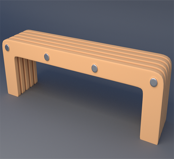 Bench - 3DOcean Item for Sale