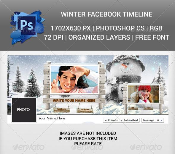 Winter Facebook Timeline Cover v2 - Facebook Timeline Covers Social Media