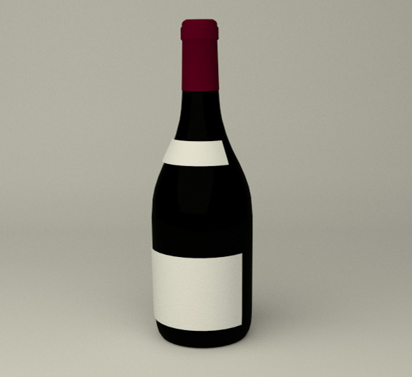 Wein Bottle - 3DOcean Item for Sale