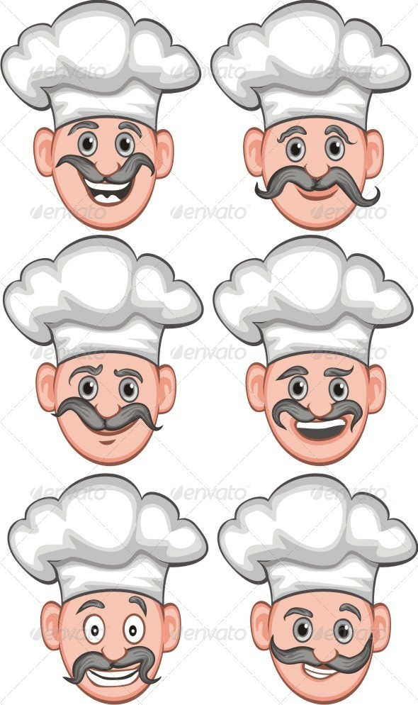 Chef Expression - People Characters