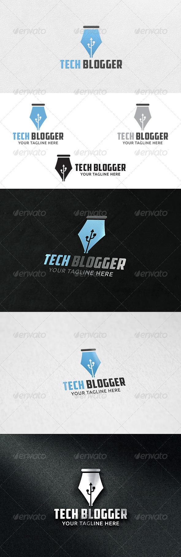 Tech Blogger - Logo Template - Symbols Logo Templates