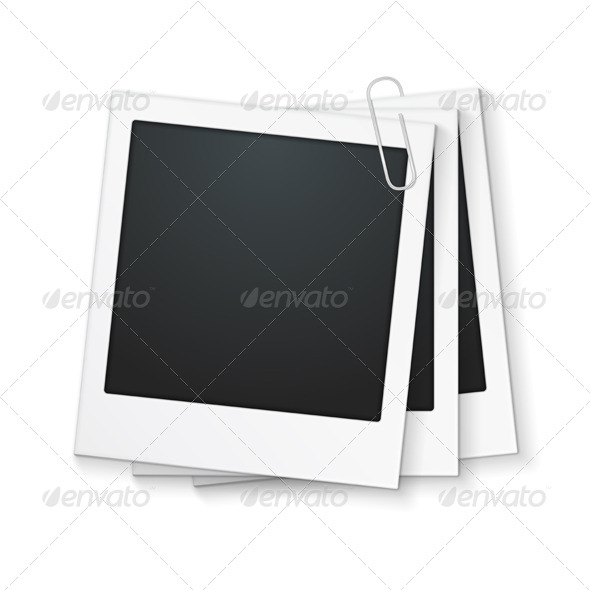 Photo Frames with Clip - Objects Vectors
