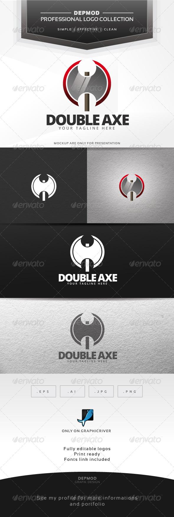 Double Axe Logo - Objects Logo Templates