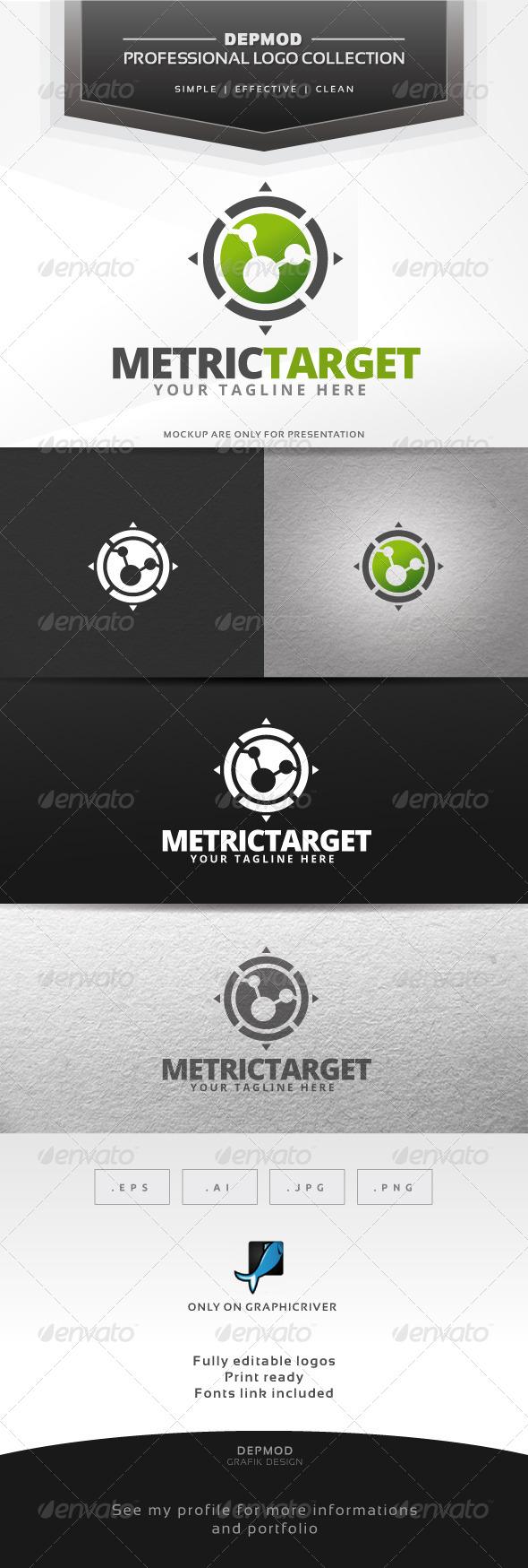 Metric Target Logo - Symbols Logo Templates