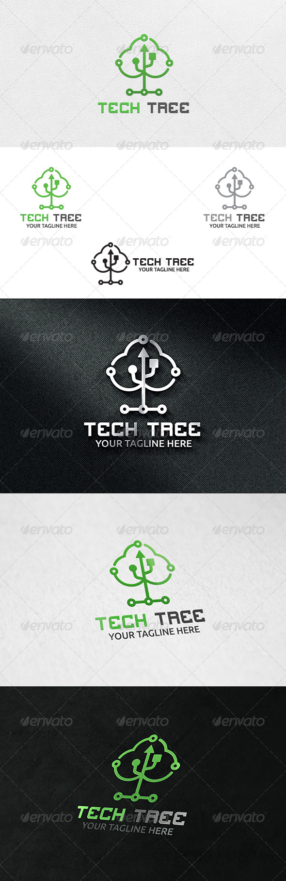 Tech Tree - Logo Template - Symbols Logo Templates