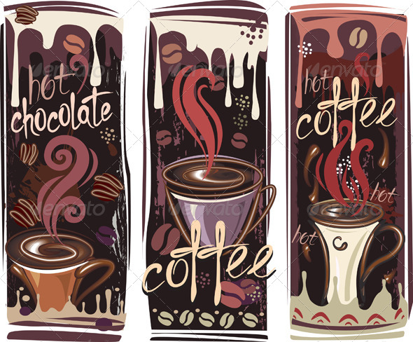 Banners with Coffee - Food Objects