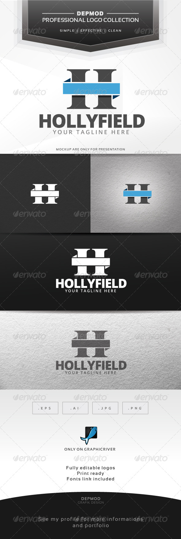 Hollyfield Logo - Letters Logo Templates