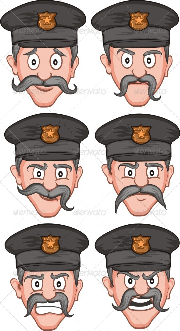 Police Expression - People Characters