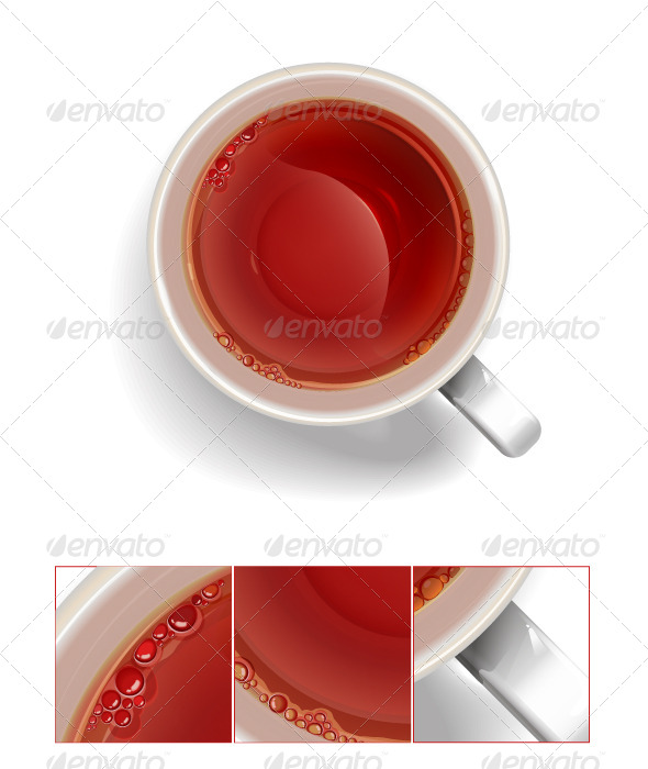 Cup of Black Tea. - Food Objects