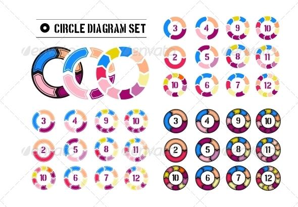 Arrow Circles Diagrams - Web Elements Vectors