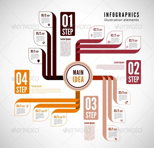 Infographics to Describe the Process. - Web Elements Vectors