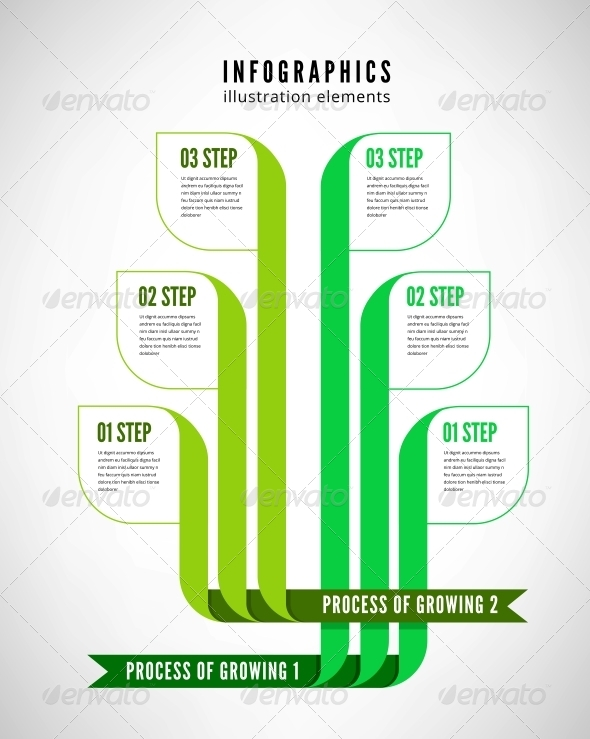 Infographics Process - Web Elements Vectors