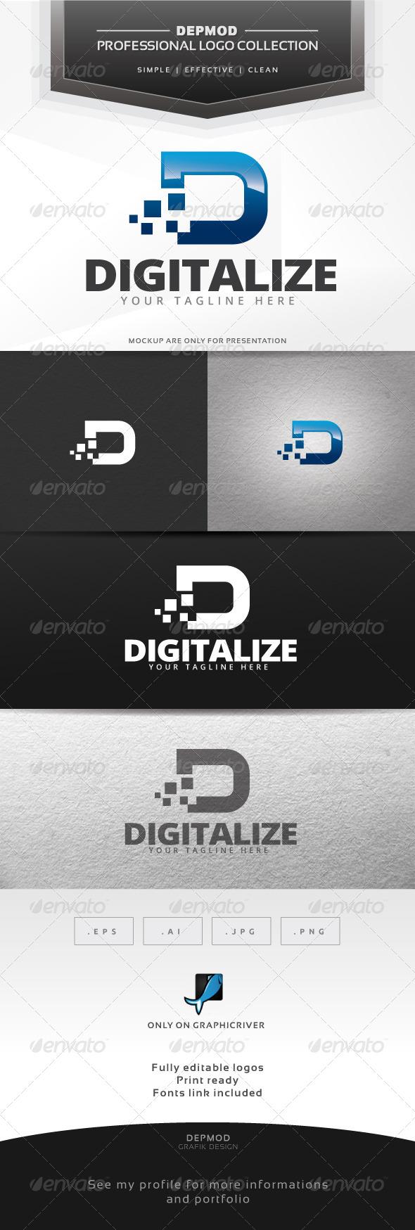 Digitalize Logo - Letters Logo Templates