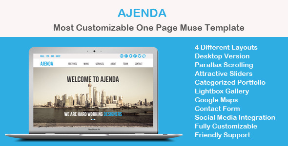 Ajenda – Multi-purpose One Page Muse Template